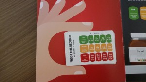 Food labelling card from British Heart Foundation