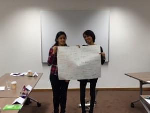 Priti and Rahana delivering